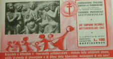 1962  XXV° CAMPAGNA  ANTITUBERCOLARE - LIBRETTO completo