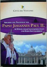 Papa Giovanni Paolo II. gedenkfolder medaglie e solo lettere tag