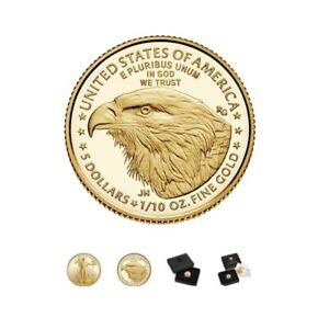 2021- American Eagle 1/10 Ounce Gold Proof New Reverse-Type-2 (21EEN)- IN HAND