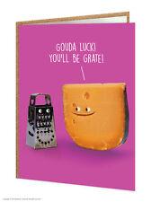 Brainbox Candy Good Luck Greetings Card funny cheese novelty cheeky joke humour