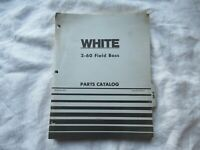 White 2-60 tractor parts catalog book manual