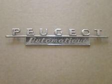 Vintage Peugeot Automatique Emblem Sign Badge Nameplate Script Metal Ornament