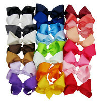 6 Inch Boutique Knot Grosgrain Ribbon Hair Bow With Clip Girl Hair Accessory