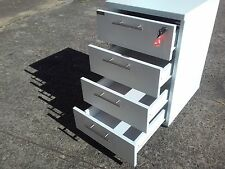 2 YEAR WARRANTY*MOBILE 4 DRAWER UNDER DESK FILING CABINET PEDESTAL*LOCKABLE
