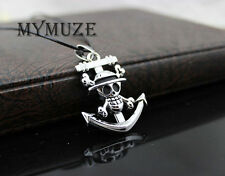 One Piece Luffy Straw Hat Skull Pirate Anchor Pendant Necklace