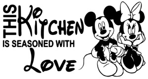 Wall art sticker Minnie and Mickey kitchen vinyl home decor quote uk seller new