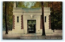 Elephant House Zoo Overton Park Memphis Tennessee TN Postcard S.H. Kress A6