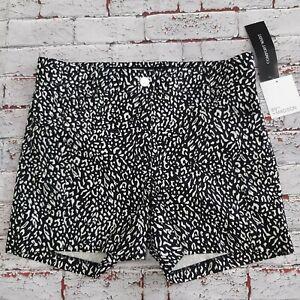 89th + Madison Women Animal Print Summer Short Size 14