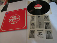 RARE PRIVATE LOUNGE KING HENRY AND THE SHOWMEN LP + INSERT AUTOGRAPHED EX-NM