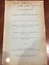 GOLD MINING in the HAURAKI DISTRICT,NEW ZEALAND.SIGNED Henry Cadell.1896.Antique