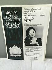 Chee-Yun violin - Advertising Flyer - Recital 92nd St Y, Nyc Feb 27, 1990