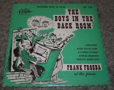 "The Boys In The Back Room Frank Froeba~RARE Piano Jazz 7"" 45 RPM EP~RED VINYL"