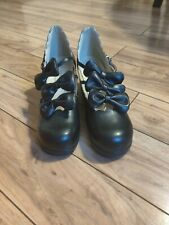 Black Gothic Lolita Shoes Sz 25.5