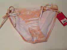 Candies Juniors Size XS Pink White Side Ties Bikini Bottom Swim NWT