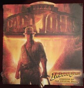 Indiana Jones & Kingdom Of The Crystal Skull Papa John's Pizza Box Lid