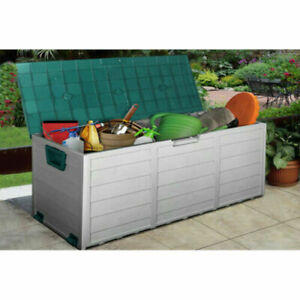 Box Garden Storage Outdoor Plastic Chest Shed Patio Cushion Lid Utility Containe