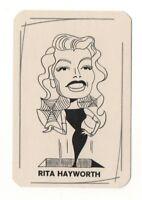 Rita Hayworth 1950's Filmstars im Titel-Mix by R P Bauer Film Star Card