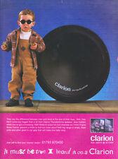 "Clarion ""Men And Boys Toys"" 1999 Magazine Advert #4095"