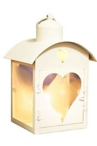 Vintage Style Cut Out Heart Metal Lantern Tea Light Candle Holder Shabby Chic