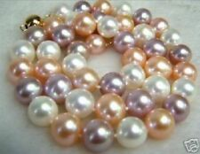 "Beautiful! 8mm multicolor south sea shell pearl necklace 18"" AAA"