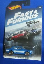 HOT WHEELS FAST & FURIOUS 6 '70 FORD ESCORT #6 OF 8,NEW