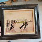 Cool vintage Irish Leprechaun Gnome troll Fairy funeral oil painting Bodner