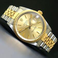 1987 Rolex Date Two Tone Gold & Stainless Steel 34mm Watch Jubilee Bracelet, NR!