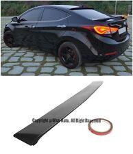 For 11-Up Hyundai Elantra Coupe Sedan Black Primer Finish Rear Roof Spoiler Wing