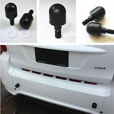 2x Car Bumper Black Round Nail Guard Protectors Anti Collision For Smart Fortwo