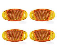 4x Reflectores Reflex para Radios de Rueda Bicicleta Naranja Catadriopticos 3328