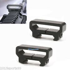 2Pack Tactical rail clamp, sling Rifle mount, Picatinny Weaver rail attachment