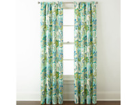 Home Expressions Charlotte 2-Pack Rod-Pocket Curtain Panels 40 x 84 Each Ocean