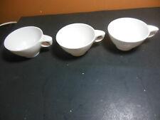 3 White Boontonware Coffee Cups Mugs 6203-8 Boonton Melamine Melmac