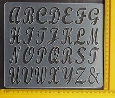 Plástico/gofrado/plantilla/alfabeto/Superior/Caja/1.5 Pulgadas/Bendy/bordes ásperos/reducido