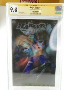 Harley Quinn #75 CGC 9.8 NM/M - Comic Mint Edition A - Signed by Shannon Maer