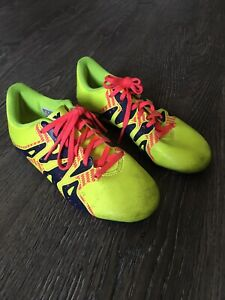 Adidas Soccer Cleats Girls Size 1 Neon Yellow