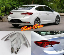 2019-2020 For Hyundai Elantra ABS Chrome Rear Light Tail Lamp Cover Trim 4x