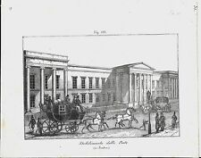 1837ca STABILIMENTO POSTE LONDRA lito Magazzino Pittorico post office London