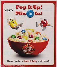2010 magazine ad M&M POPCORN Orville Redenbacher's advertisement print mms M&M's