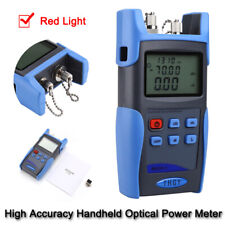 Handheld Portable Fiber Power Cable Optical Tool Meter 800~1700nm with Red Light