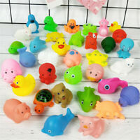 10PCS Rubber Children Animals Swimming Sound Squeeze Toys Baby Shower Bath