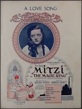 1923 A LOVE SONG Sears & Levey THE MAGIC RING Mitzi Hajos THEATER SHEET MUSIC