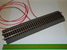 Voie ROCO LINE Rail droit 230 mm avec fils d'alimentation pour CONTINU ou DCC