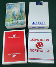AVIATION USA LOT 4 PLAYING CARDS CARD RARE UNITED DELTA NORTHWEST AIR CHICAGO