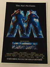 1993 video game movie ad page ~ SUPER MARIO BROS.