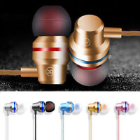 Metal Stereo Headphone Bass Earphone Sport Headset Hands Free Earbuds With MicGG