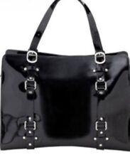 OiOi Tote Handbag Or Nappy Bag Black Patent Leather BNWT L Overnight Bag