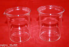 Bodum Bistro Clear Glass Sugar Bowl and Creamer Set  MCM Denmark ( B )