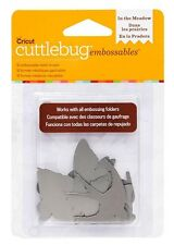 Cricut Cuttlebug IN THE MEADOW - SILVER Embossables Metal Shapes