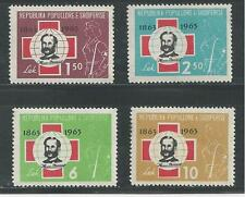 ALBANIA # 649-652 Mint 100TH ANNIVERSARY OF RED CROSS